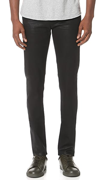 J Brand Tyler Coated Slim Fit Jeans