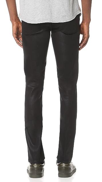 J Brand Tyler Coated Slim Fit Jeans