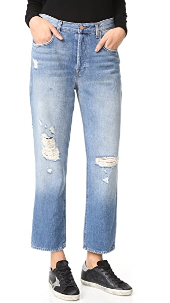 J Brand Ivy High Rise Crop Straight Jeans - Bleach Wrecked