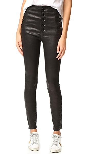 J Brand Natasha Leather Pants - Black