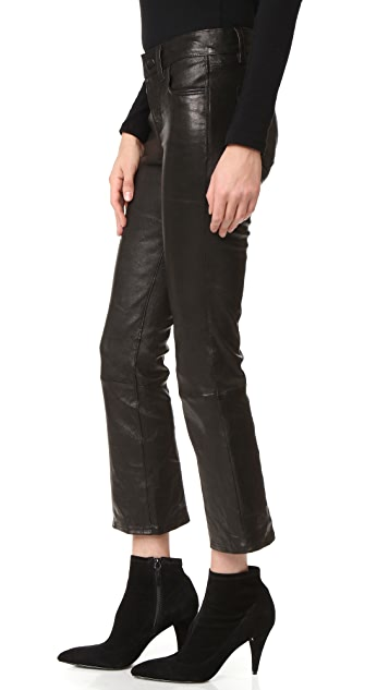 J Brand Selena Cropped Leather Pants