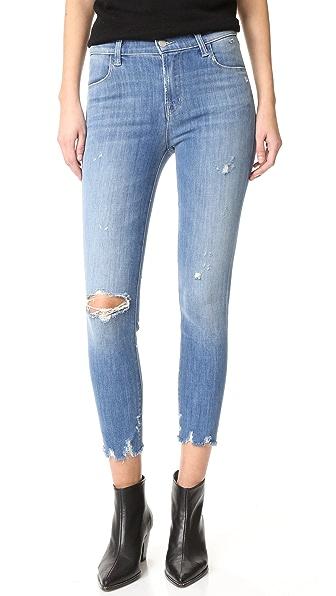 J Brand Alana High Rise Crop Skinny Jeans - Fantasy