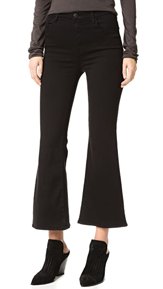 J Brand Carolina Super High Rise Flare Jeans - Black