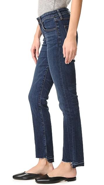 J Brand Amelia Straight Step Fray Jeans
