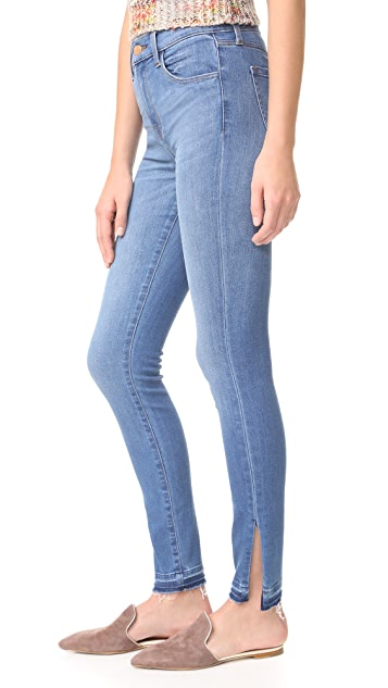 J Brand Maria High Rise Skinny Jeans with Side Slits