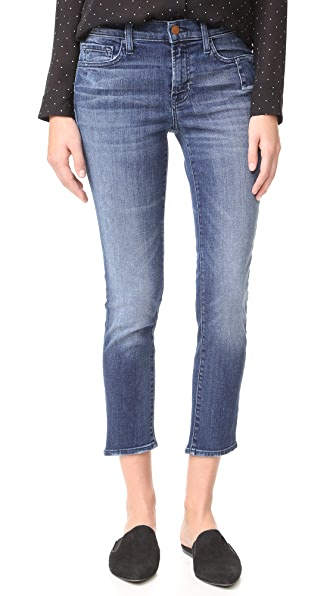 J Brand Sadey Slim Straight Jeans with Shadow Pocket
