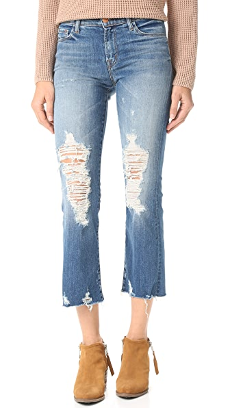 J Brand Selena Cropped Jeans - Torrent