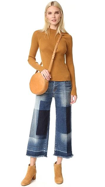 J Brand Liza Mid Rise Culotte Jeans
