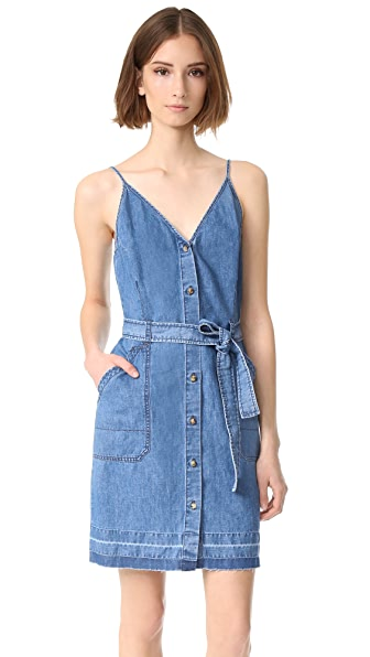J Brand Carmela Sleeveless Released Hem Dress at Shopbop