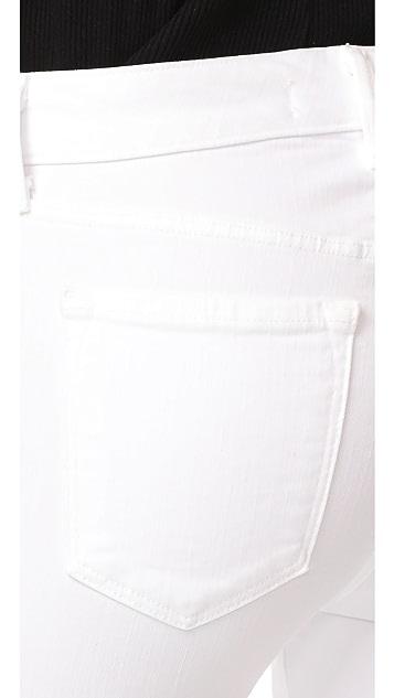 J Brand Amelia Mid Rise Straight Jeans