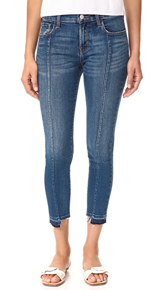 J Brand Mid Rise Skinny Jeans - Repose