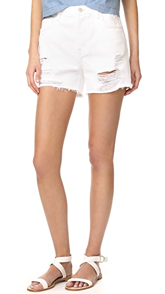 J Brand Ivy High Rise Shorts - Distract