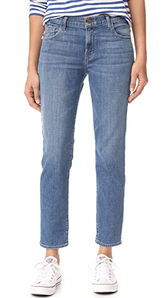 J Brand Johnny Mid Rise Boy Fit Jeans - Heartbroken