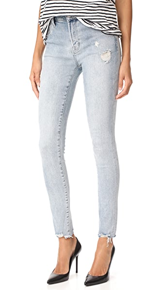 J Brand Maria High Rise Skinny Jeans - Remnant Destruct