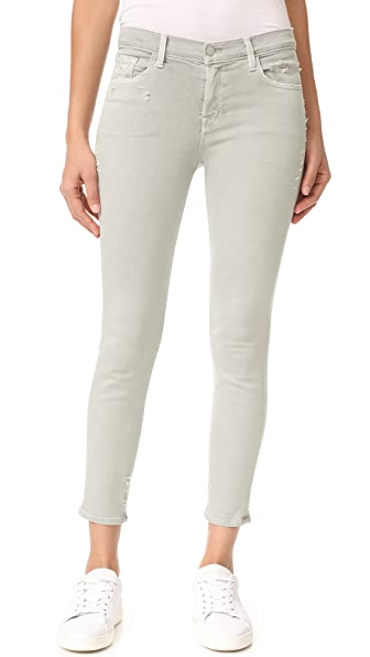 J Brand 835 Mid Rise Capri Jeans - Smokey Grey