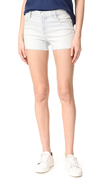 J Brand 1044 Mid Rise Shorts - Bleached Stripe
