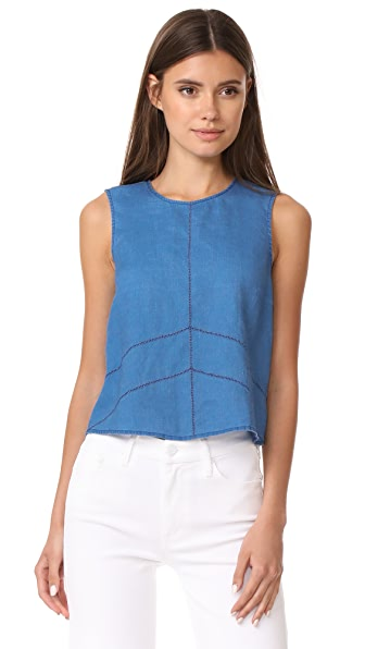 J Brand Daia Sleeveless Top In Blue Yonder