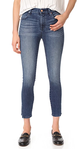 J Brand Alana High Rise Crop Skinny Jeans at Shopbop
