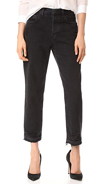 J Brand Ivy Crop Straight Jeans In Double Cross