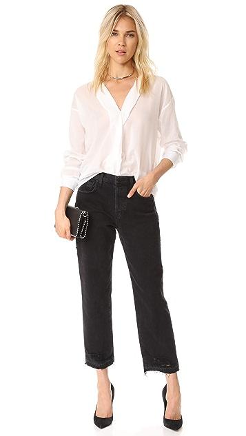 J Brand Ivy Crop Straight Jeans