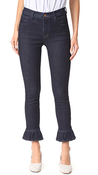 J Brand High Rise Crop Maude Jeans - Flourish
