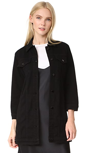 J Brand Maxi Jacket - Pitch Black