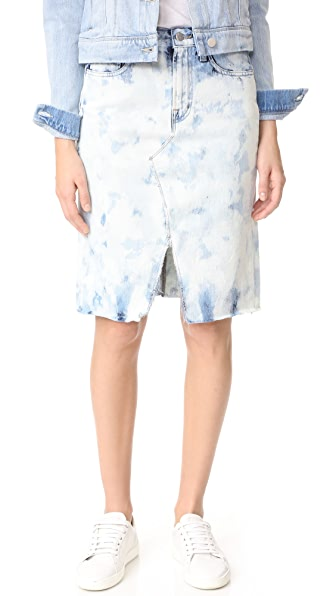 J Brand Trystan Skirt with Raw Hem