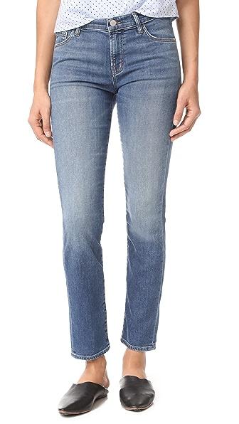 J Brand Maude Mid Rise Cigarette Jeans - Wistful