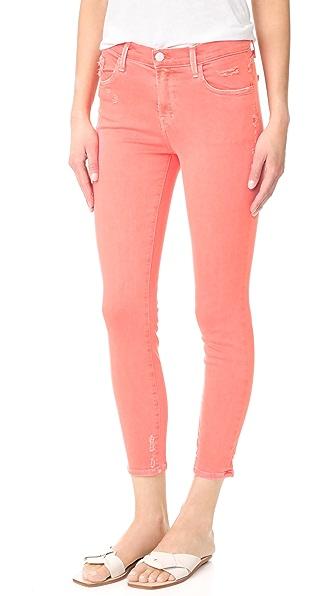 J Brand 835 Mid Rise Capri Jeans - Glowing