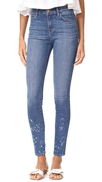 J Brand Maria High Rise Skinny Jeans - Anarchy