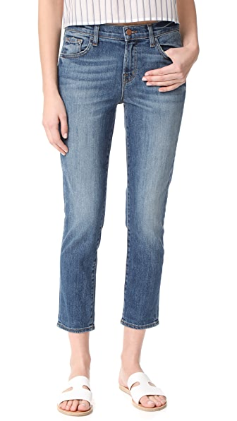 J Brand Sadie Slim Straight Jeans - Old Rose