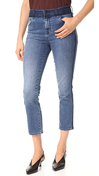 J Brand High Rise Crop Maude Jeans - Point Blank