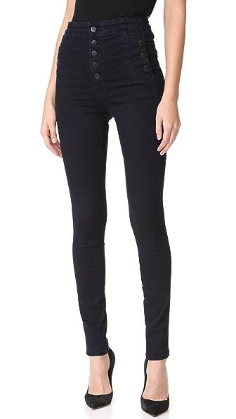 J Brand Natasha Sky High Skinny Jeans - Bluebird