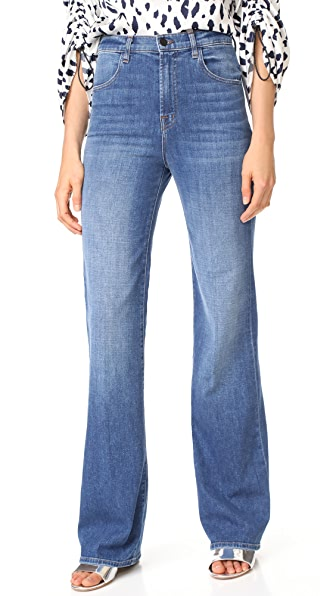 J Brand Joan High Rise Straight Jeans - Striker