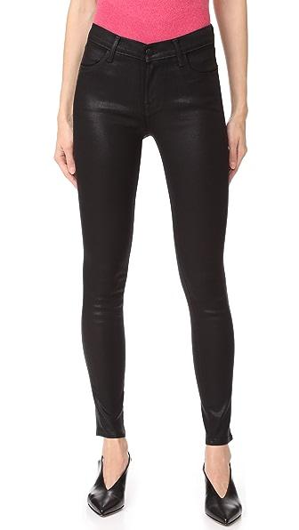 J Brand 620 Super Skinny Coated Jeans