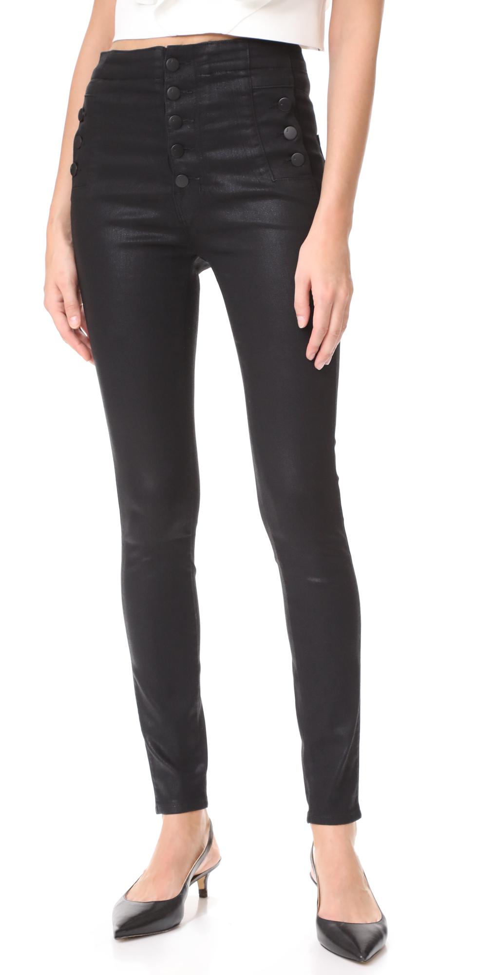 Natasha Sky High Coated Skinny Jeans J Brand