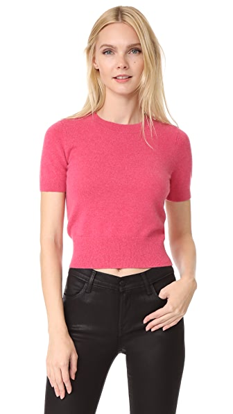 J Brand Briony Short Sleeve Sweater In Roseate