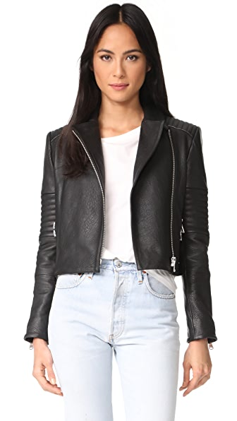J Brand Aiah Leather Jacket - Black