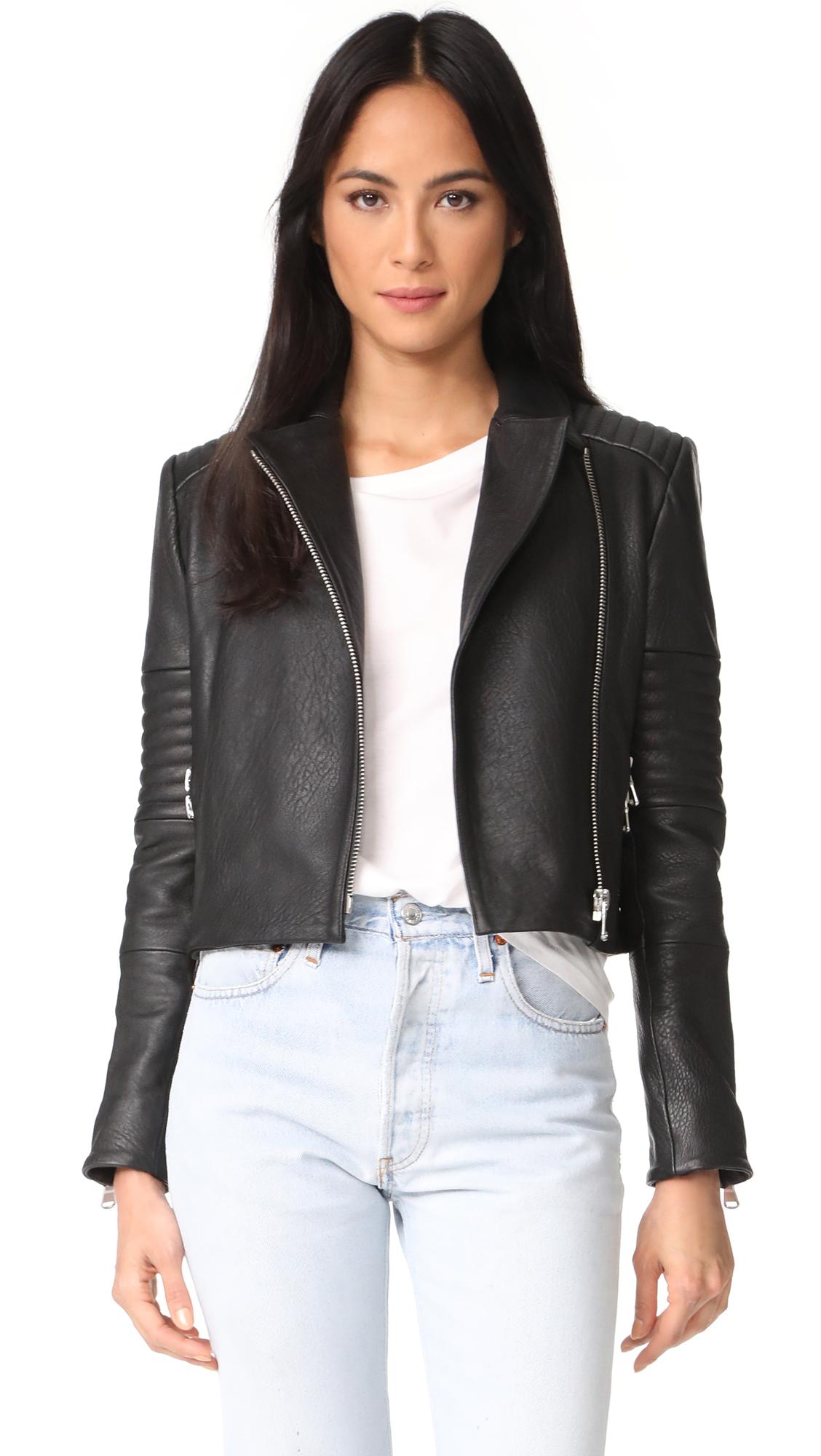 J Brand Aiah Leather Jacket - Black