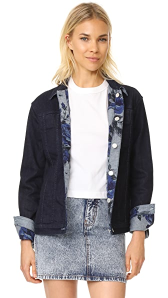 J Brand Reversible Cyra Oversize Jacket - Corsage