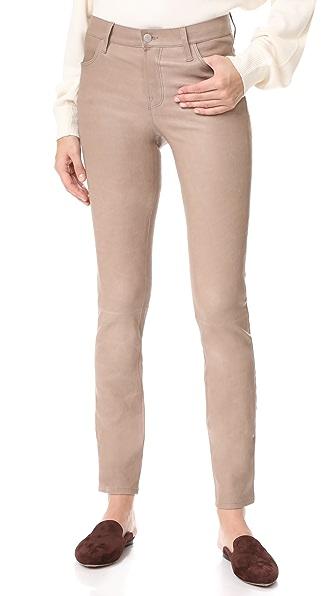 J Brand Maude Mid Rise Cigarette Leather Pants