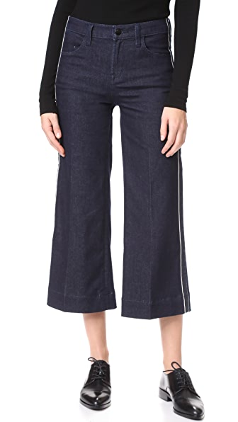 J Brand Liza Mid Rise Culotte Jeans In Border
