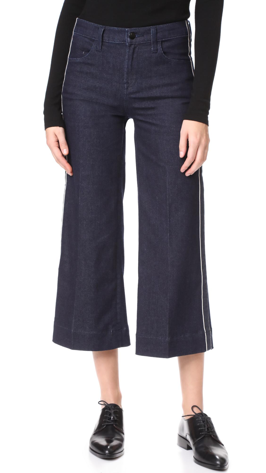 J Brand Liza Mid Rise Culotte Jeans - Border