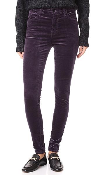 Maria High Rise Skinny Velveteen Jeans