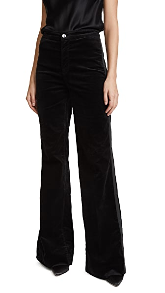 J Brand Isabella High Rise Pants In Black