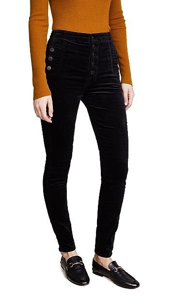 J Brand Natasha Velvet Sky High Skinny Pants