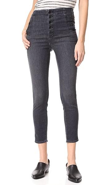 J Brand Natasha Cropped Sky High Skinny Jeans - Fascination