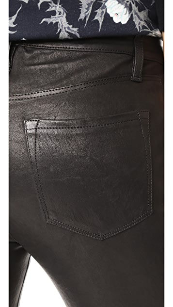 J Brand High Rise Alana Crop Leather Pants