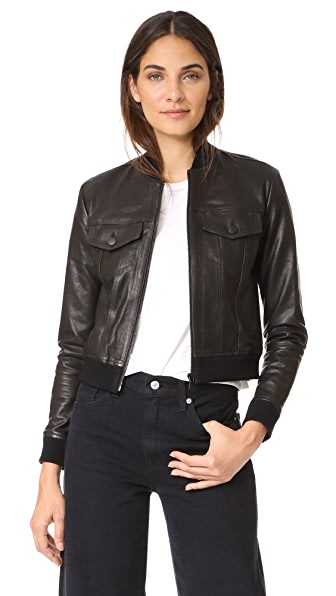 J Brand Harlow Leather Jacket at Shopbop