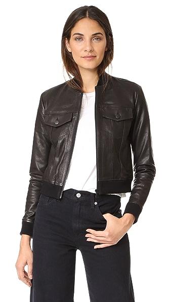 J Brand Harlow Leather Jacket
